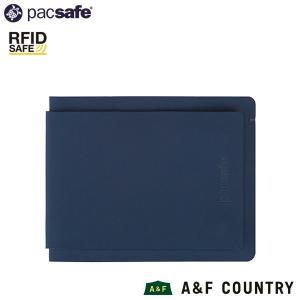 パックセーフ pacsafe RFIDセーフテック バイフォールドプラス ネイビー|aandfshop
