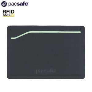 パックセーフ pacsafe RFID safe TEC スリーブウォレット ブラック/ライム|aandfshop