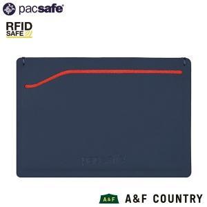 パックセーフ pacsafe RFID safe TEC スリーブウォレット ネイビー/レッド|aandfshop
