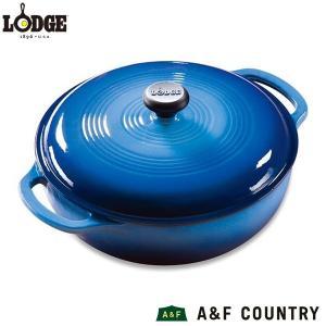 ロッジ 鍋 カラーエナメル ダッチオーヴン ブルー  3QT  EC3D33 LODGE 送料無料 日本総代理店商品|aandfshop