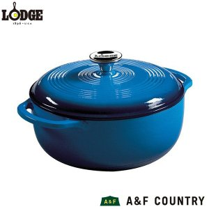 ロッジ エナメルダッチオーブン 4.5QT ブルー  LODGE 送料無料 日本総代理店商品|aandfshop