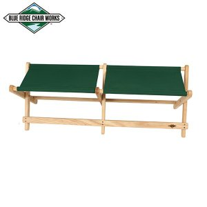 Blue Ridge Chair Works ブルーリッジチェアワークス ボイジャーベンチ フォレストグリーン 送料無料 チェア 二人掛け|aandfshop