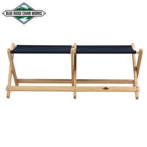 Blue Ridge Chair Works ブルーリッジチェアワークス ボイジャーベンチ ネイビー 送料無料 チェア 二人掛け|aandfshop