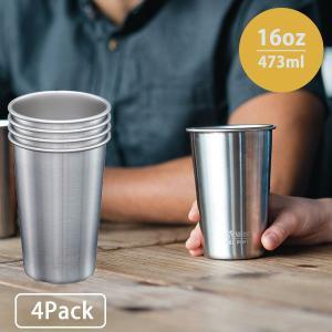 クリーンカンティーン Klean Kanteen パイントカップ 16oz 4Pack ステンレス 4個パック|aandfshop