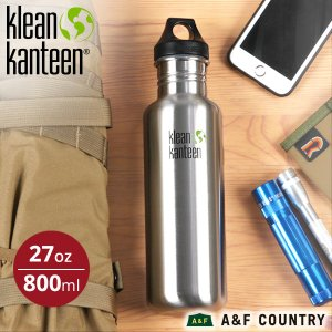クリーンカンティーン Klean Kanteen カンティーンボトル27oz800ml ステンレス マイボトル|aandfshop