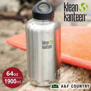 クリーンカンティーン Klean Kanteen カンティーンボトル ワイド64oz1900ml ステンレス マイボトル|aandfshop