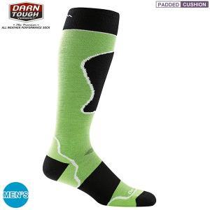ダーンタフ DARN TOUGH Ms1415 オーバーザカフ パテッドクッション グリーン <生涯保証> ソックス 靴下|aandfshop