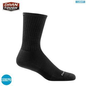ダーンタフ DARN TOUGH Ms 1680 スタンダード クルー ライト ブラック  <生涯保証> ソックス 靴下|aandfshop