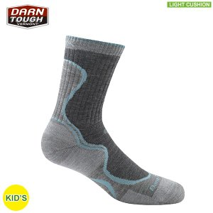 ダーンタフ DARN TOUGH KIDs 3000 シェアストライプ Jr マイクロクルー ライトクッション <生涯保証> ソックス 靴下 aandfshop