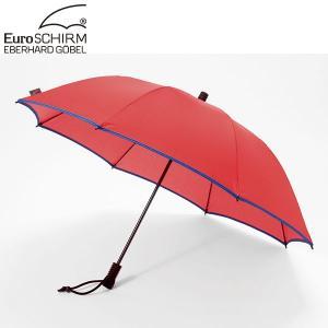 ユーロシルム EuroSCHIRM スイング ライトフレックス アンブレラ レッド×ネイビー 傘 アンブレラ 雨|aandfshop