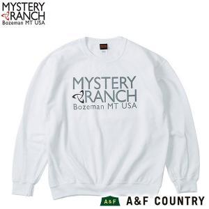 MYSTERYRANCH ミステリーランチ クラシックロゴクルー ホワイト|aandfshop