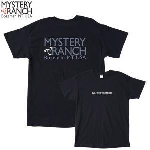 ミステリーランチ Ms カラードスピナーTシャツ ブラック/ホワイト MYSTERYRANCH 【日本正規商品】|aandfshop