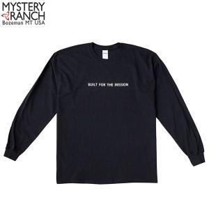 ミステリーランチ メンズ ビルトフォーザミッションロングスリーブTシャツ ブラック MYSTERY RANCH 【日本正規商品】 aandfshop