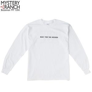 ミステリーランチ メンズ ビルトフォーザミッションロングスリーブTシャツ ホワイト MYSTERY RANCH 【日本正規商品】 aandfshop