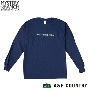 ミステリーランチ メンズ ビルトフォーザミッションロングスリーブTシャツ ネイビー MYSTERY RANCH 【日本正規商品】 aandfshop