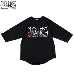 ミステリーランチ メンズ ベースボールTシャツ ブラック MYSTERY RANCH 【日本正規商品】 aandfshop