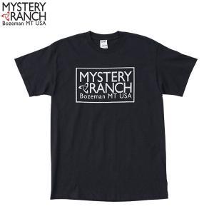 ミステリーランチ Ms ボックスロゴTシャツ ブラック MYSTERYRANCH 【日本正規商品】|aandfshop