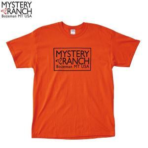 ミステリーランチ Ms ボックスロゴTシャツ ブレイズオレンジ MYSTERYRANCH 【日本正規商品】|aandfshop