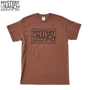ミステリーランチ Ms ボックスロゴTシャツ チェストナット MYSTERYRANCH 【日本正規商品】|aandfshop