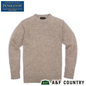 ペンドルトン PENDLETON シェットランドクルー AF632 オートヘザー 61110 送料無料 ウール製品 日本正規商品|aandfshop