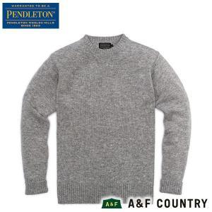 ペンドルトン PENDLETON シェットランドクルー AF632 グレイヘザー 61115 送料無料 ウール製品 日本正規商品|aandfshop