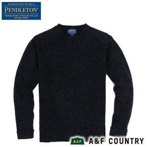ペンドルトン PENDLETON シェットランドクルー AF632 ディープインディゴ 63630 送料無料 ウール製品 日本正規商品|aandfshop