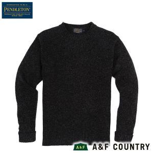 ペンドルトン PENDLETON シェットランドクルー AF632 ブラックヘザー 60702  送料無料 ウール製品 日本正規商品|aandfshop
