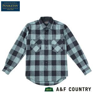 ペンドルトン PENDLETON ガイドシャツ ジャパンフィット HA438 アクアミックスバッファローチェック 送料無料 ウール製品 日本正規商品|aandfshop
