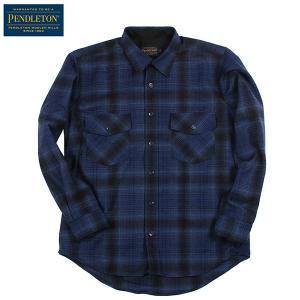 ペンドルトン PENDLETON ガイドシャツ ジャパンフィット HA438 ブルー/ブラックオンブレー 31951 送料無料 ウール製品 日本正規販売店商品|aandfshop