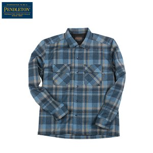 ペンドルトン PENDLETON ボードシャツ ジャパンフィット AA417 インディゴプレイド 31945 送料無料 ウール製品 日本正規販売店商品|aandfshop