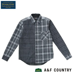 ペンドルトン PENDLETON アーバンパイオニアシャツ ジャパンフィット AA405 ブラック 51001  ウール製品 日本正規商品|aandfshop
