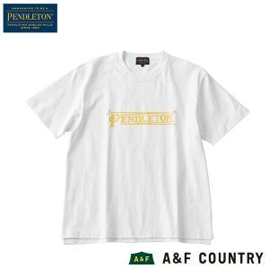 ペンドルトン PENDLETON Ms ショートスリーブロゴプリントTシャツ ホワイト|aandfshop