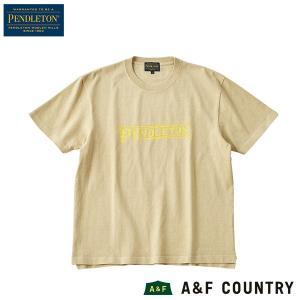 ペンドルトン PENDLETON Ms ショートスリーブロゴプリントTシャツ ベージュ|aandfshop
