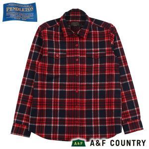 ペンドルトン PENDLETON Ws マウンテリニアシャツ ブルーレッドプレイド 31753 送料無料 ウール製品  女性用 レディス レディス 日本正規商品|aandfshop