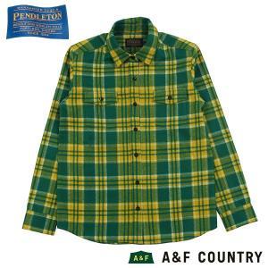 ペンドルトン PENDLETON Ws マウンテリニアシャツ イエローグリーンプレイド 31844 送料無料 ウール製品  女性用 レディス レディス 日本正規商品|aandfshop