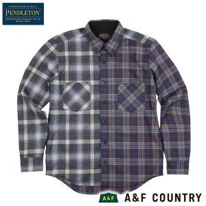 ペンドルトン メンズ ニューアーバンパイオニアシャツ ジャパンフィット RC400 ブルー PENDLETON 日本正規商品 aandfshop