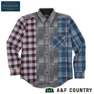 ペンドルトン メンズ ニュークレイジーシャツ ジャパンフィット RC401 グレー PENDLETON 日本正規商品 aandfshop