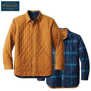 ペンドルトン PENDLETON  リバーシブルキャンバスジャケット AK341 タン/ブルーティール 81837 日本正規商品 aandfshop