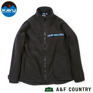 カブー KAVU Ms フリース フルジップ スローシャツ ブラック 送料無料|aandfshop