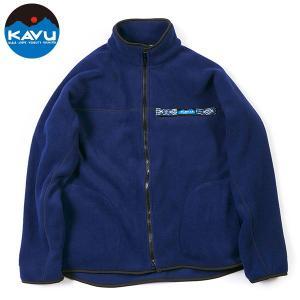 カブー KAVU Ms フリース フルジップ スローシャツ ネイビー 送料無料|aandfshop