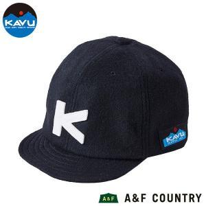 カブー KAVU ベースボールキャップ ウール ブラック 帽子 キャップ