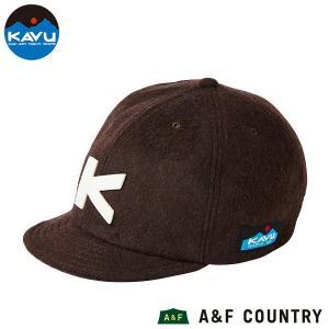 カブー KAVU ベースボールキャップ ウール ブラウン 帽子 キャップ|aandfshop