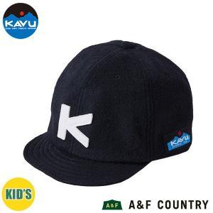 カブー KAVU キッズ ベースボールキャップ ウール ブラック 帽子 キャップ 子供用