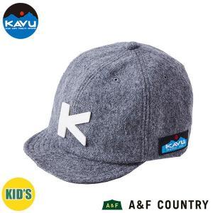カブー KAVU キッズ ベースボールキャップ ウール グレー 帽子 キャップ 子供用|aandfshop