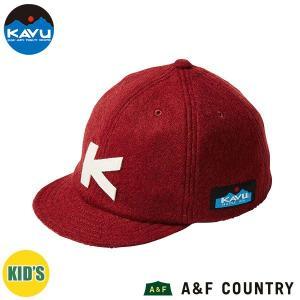 カブー KAVU キッズ ベースボールキャップ (ウール) バーガンディ 帽子 キャップ 子供用 aandfshop