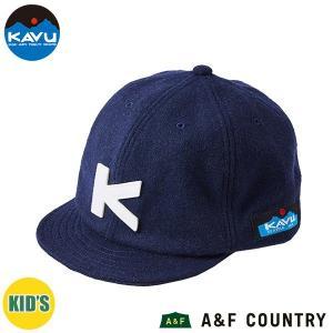カブー KAVU キッズ ベースボールキャップ ウール ネイビー 帽子 キャップ 子供用 aandfshop