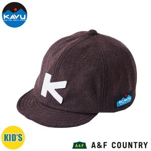 カブー KAVU キッズ ベースボールキャップ ウール ブラウン 帽子 キャップ 子供用 aandfshop