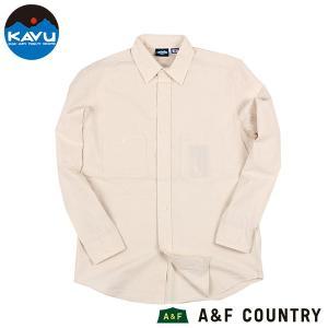 カブー KAVU ロングスリーブシャンブレーシャツ キナリ 送料無料 日本製 ボタンダウンシャツ|aandfshop
