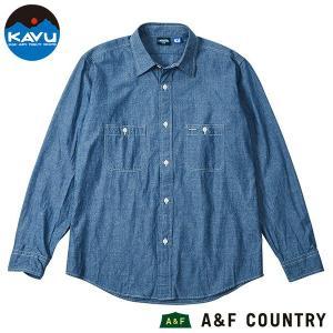 カブー KAVU ロングスリーブシャンブレーシャツ ブルー 送料無料 日本製 ボタンダウンシャツ|aandfshop