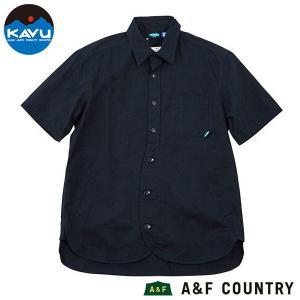 カブー KAVU メンズ ショートスリーブループシャツ ネイビー 送料無料|aandfshop